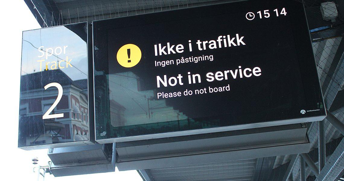 Ikke i trafikk - Hamar togstasjon
