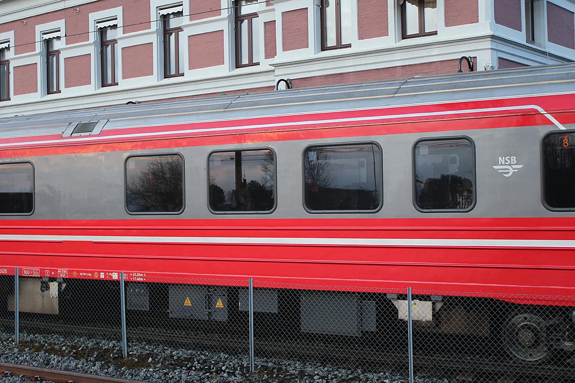 Togvogn på Hamar stasjon
